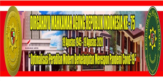 DIRGAHAYU MAHKAMAH AGUNG RI KE-75