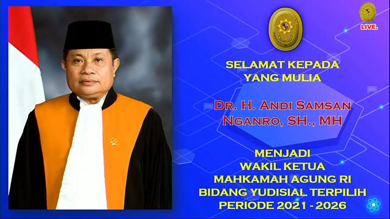 Pemilihan Wakil Ketua  Mahkamah Agung RI Yudisial Periode 2021-2026