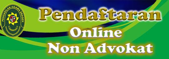 Pendaftaran online non advokat